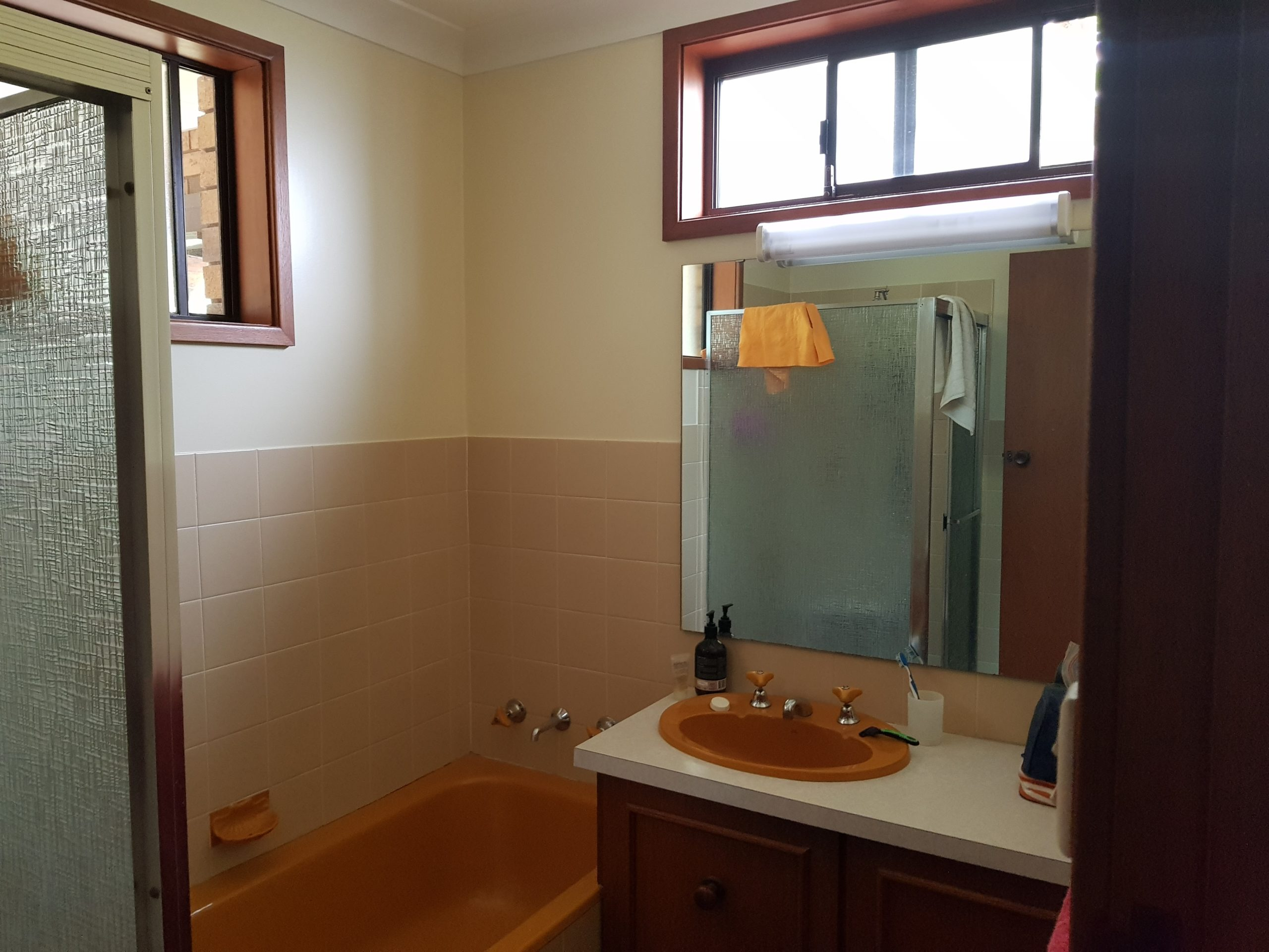Bathroom and laundry renovation before we started working on the east maitland property